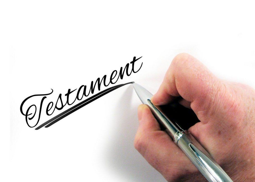 rediger testament